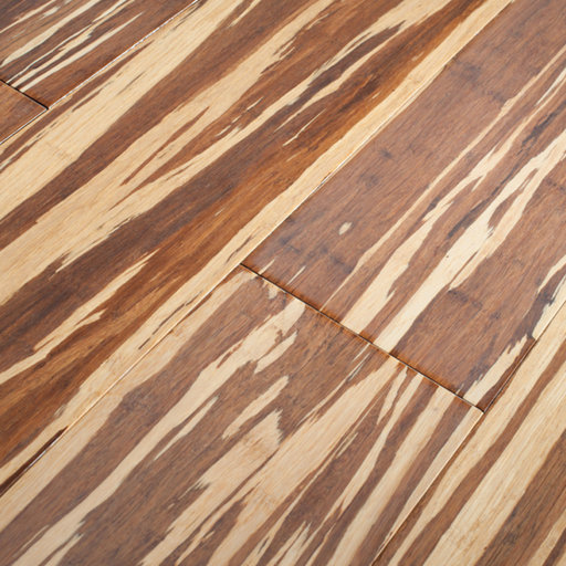 Anbo Style Tigerwood Strand Woven Solid Bamboo Flooring, Lacquered, 142x14 mm