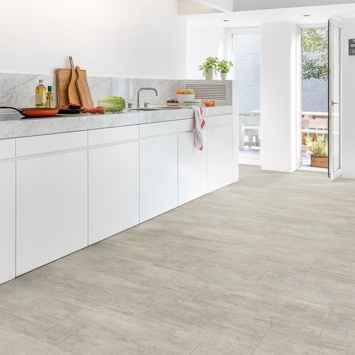 QuickStep Livyn Ambient Click Light Grey Travertin Vinyl Flooring