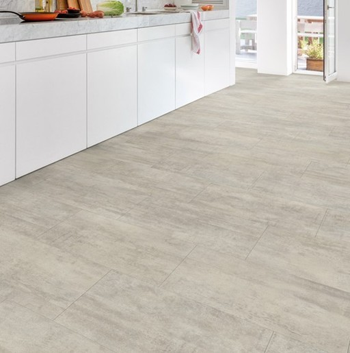 QuickStep Livyn Ambient Click Plus Light Grey Travertin Vinyl Flooring