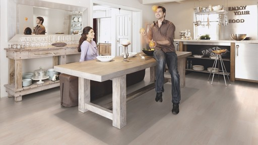 Boen Ash Polar Engineered 3-Strip Flooring, White Stained, Matt Lacquered, 215x3x14 mm