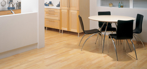 Boen Andante Ash Engineered 3-Strip Flooring, Matt Lacquered, 209x3x14 mm