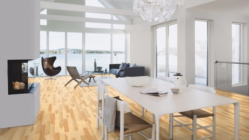 Boen Prestige Ash Parquet Flooring, Live Natural Oiled, 10x70x590 mm