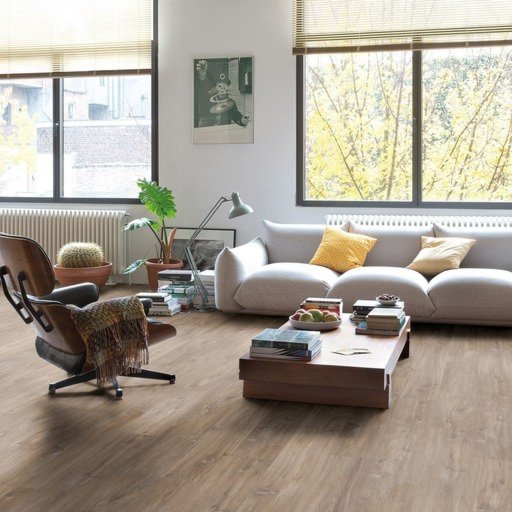 QuickStep Livyn Balance Click Canyon Oak Dark Brown with Saw Cuts Vinyl Flooring