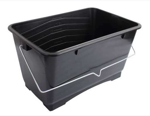 Small Black Plastic Scuttle, 9 inch