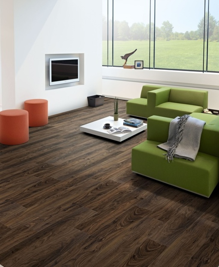 Balterio Tradition Quattro V-Groove Select Walnut Laminate Flooring, 9 mm