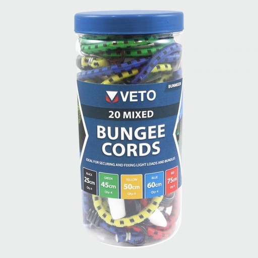 Mixed Set Bungee Cord, 20 Pcs