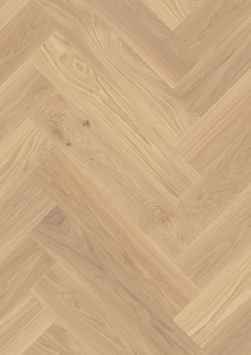 Boen Adagio Herringbone White Oak Engineered Flooring, Brushed, Live Natural Oil, 138x14x690 mm