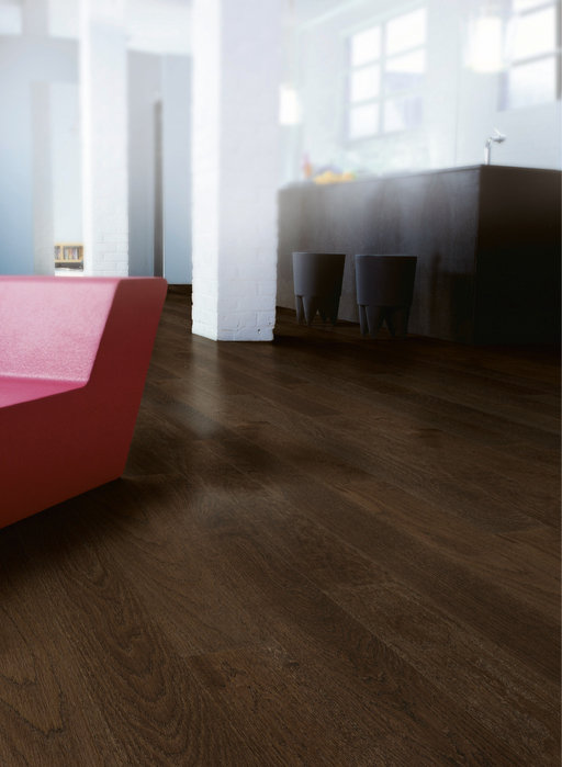 QuickStep Castello Coffee Brown Oak Engineered Flooring, Matt Lacquered, 145x3x14 mm