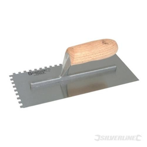 Silverline Adhesive Trowel, 280 x120 mm, 6 mm Notch