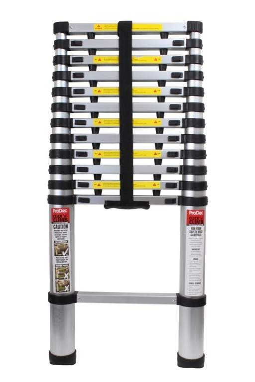 Click & Climb Telescopic Ladder, 3.8 m