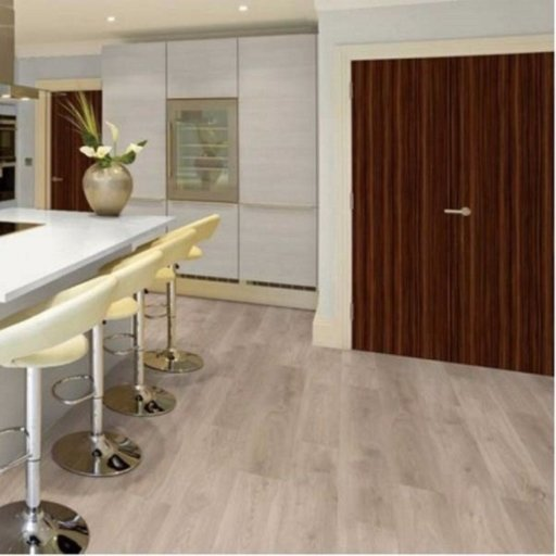 Chene Ascona Oak 4-V Groove Laminate Flooring, 8 mm