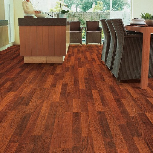 QuickStep CLASSIC Enhanced Merbau 3-Stripped Laminate Flooring, 8 mm