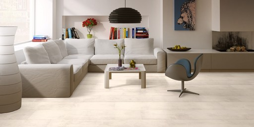 Quickstep Classic Bleached White Teak Laminate Flooring 8 Mm