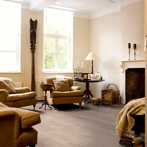 QuickStep CLASSIC Bleached White Oak Laminate Flooring, 8 mm