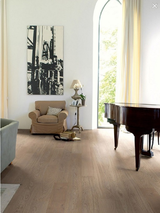 Quickstep Compact Cobblestone Grey Oak Engineered Flooring, Matt Lacquered, 145x2.5x12.5 mm