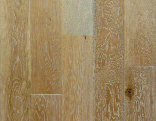 Cheetah Oak Engineered Flooring, White Striped, Rustic, Brushed, Lacquered, 148x3x14 mm
