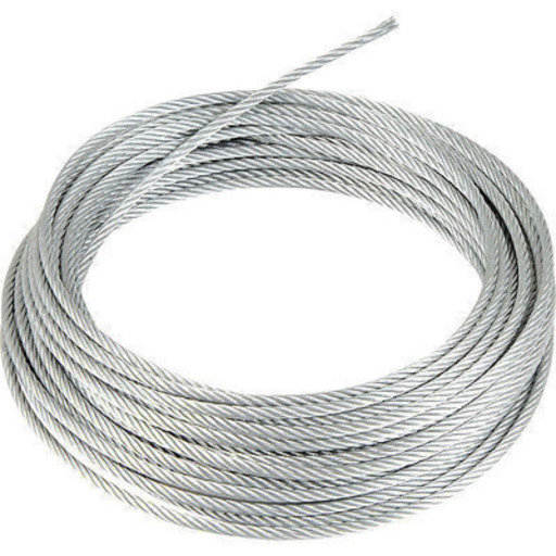 Wire Rope, 2 mm, Zinc Plated, 30 m