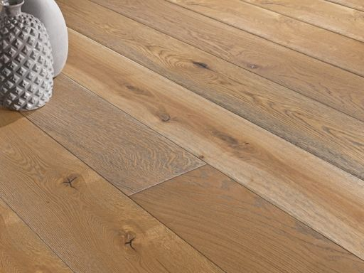 Chene White Oak Engineered Oak Flooring, Smoked, Oiled, 190x6x20 mm