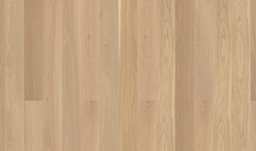 Boen Andante Oak Engineered Wood Flooring, White, Brushed, Lacquered, 14x209x2200 mm