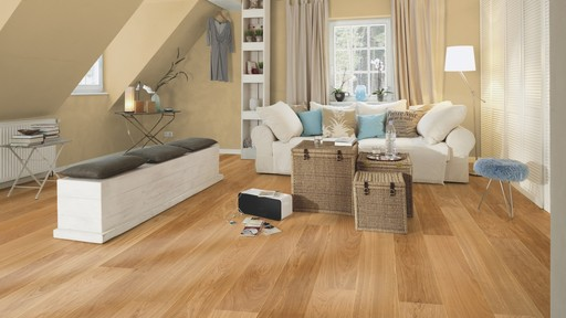 Boen Andante Oak Engineered Flooring, Brushed, Oiled, 209x3.5x14 mm