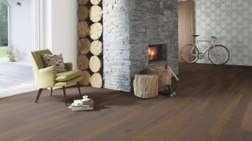 Boen Andante Smoked Oak Engineered Flooring, Live Pure Lacquered, 14x138x2200 mm