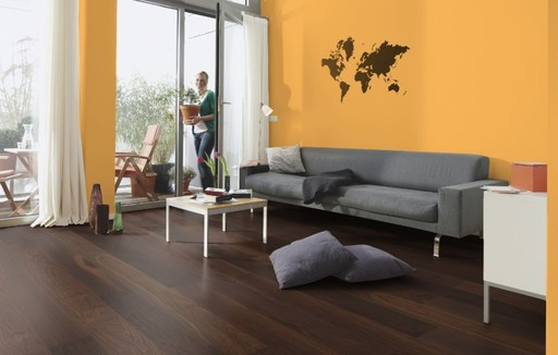 Boen Marcato Smoked Oak Engineered Flooring, Brushed, Oiled, 138x3.5x14 mm