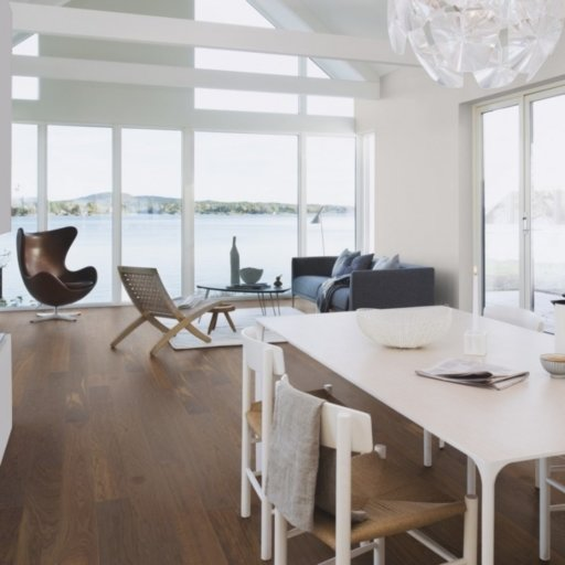Boen Andante Smoked Oak Engineered Wood Flooring, Live Pure Lacquered, 14x209x2200 mm