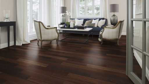 Boen Maxi Smoked Oak 1-Strip Parquet Flooring, Brushed, Oiled, 2v Bevel, 10.5x100x833 mm