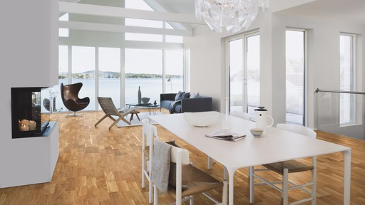Boen Finale Oak Engineered 3-Strip Flooring, Matt Lacquered, 215x3x14 mm