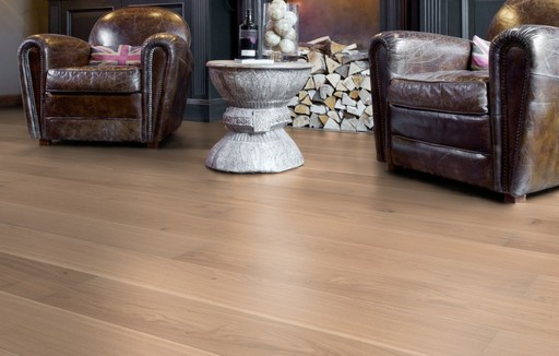 Boen Andante Oak Engineered Flooring, White Stained, Matt Lacquered, 209x3x14 mm