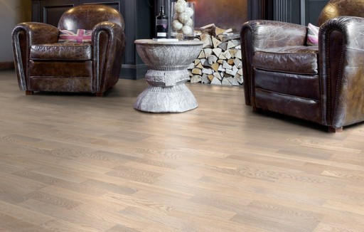 Boen Concerto Oak White Engineered 3-Strip Flooring, Matt Lacquered, 215x3x14 mm