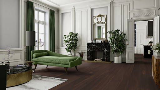 Boen Andante Smoked Oak Engineered Flooring, Satin Lacquered, 14x138x2200 mm