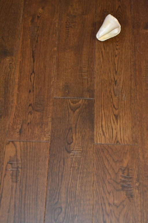 Elka Antique Oak Solid Wood Flooring, Distressed, Lacquered, 130x18 mm