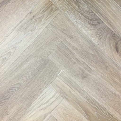 Elka Light Smoked Oak Herringbone Engineered Flooring, 14x3x600 mm