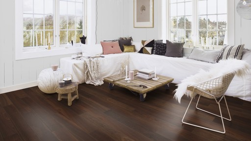 Boen Finesse Smoked Oak Parquet Flooring, Natural, Live Matt Lacquered, 10.5x135x1350 mm