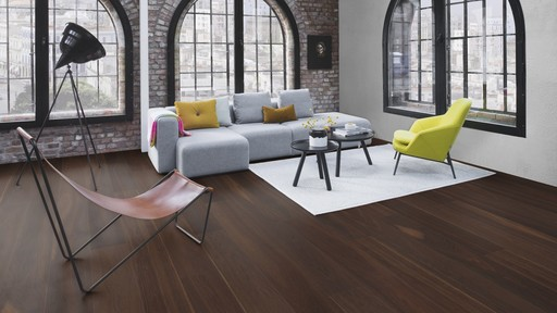 Boen Prestige Oak Smoked Parquet Flooring, Matt Lacquered, Natural, 10x70x590 mm
