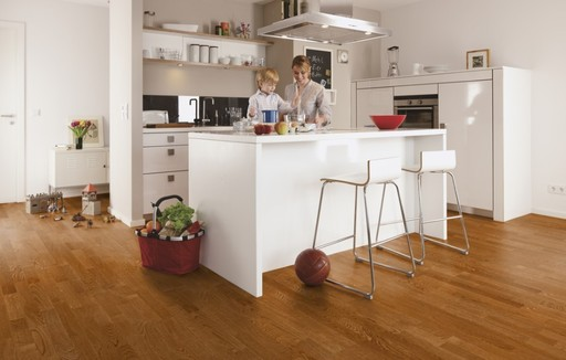 Boen Oak Toscana Engineered 3-Strip Flooring, Live Matt Lacquered, 215x3x14 mm