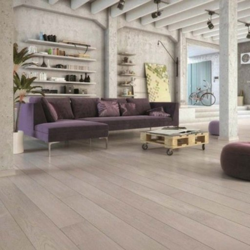 Kersaint Cobb Fjor Foss Engineered Oak Flooring, Rustic, Lacquered, 180x2.5x14 mm