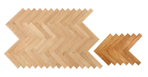 Kersaint Cobb Cathedral Solid Oak Parquet Flooring, Unfinished, Prime, 10x50x250 mm