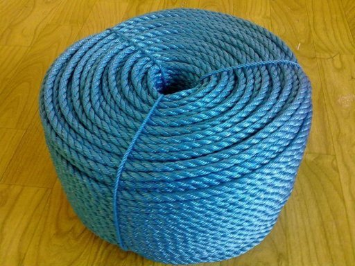 Stranded Polypropylene Rope, 8 mm, Blue, 15 m