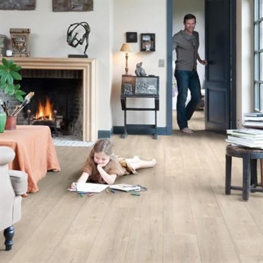 Quickstep Impressive Saw Cut Oak Beige Laminate Flooring 8 Mm