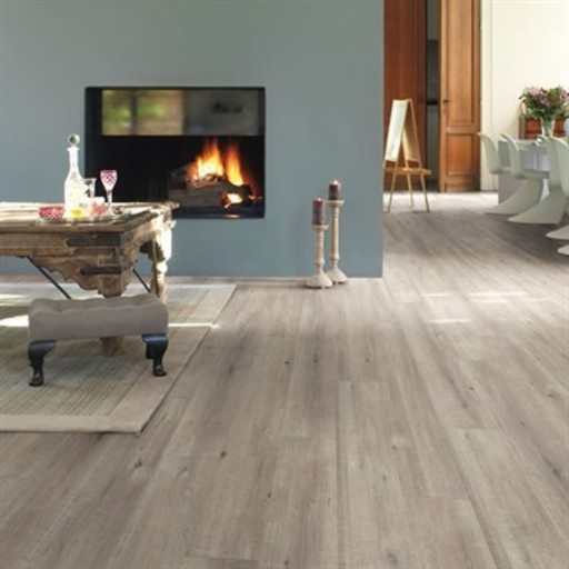QuickStep Impressive Saw Cut Oak Grey Laminate Flooring, 8 mm