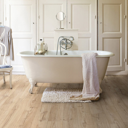 QuickStep Impressive Ultra Classic Oak Beige Laminate Flooring, 12 mm