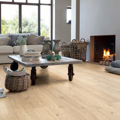 QuickStep Impressive Ultra Sandblasted Oak Natural Laminate Flooring, 12 mm