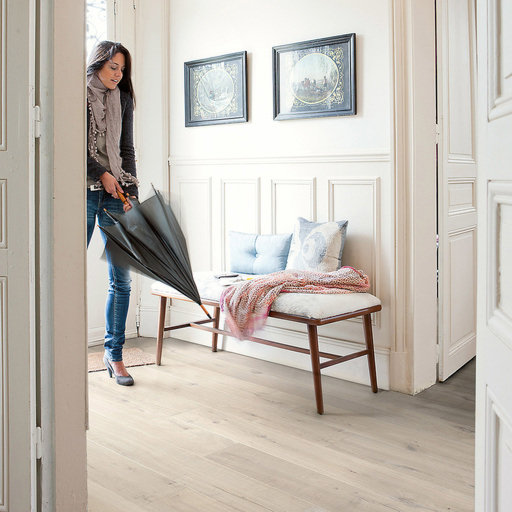 QuickStep Impressive Ultra Soft Oak Light Laminate Flooring, 12 mm