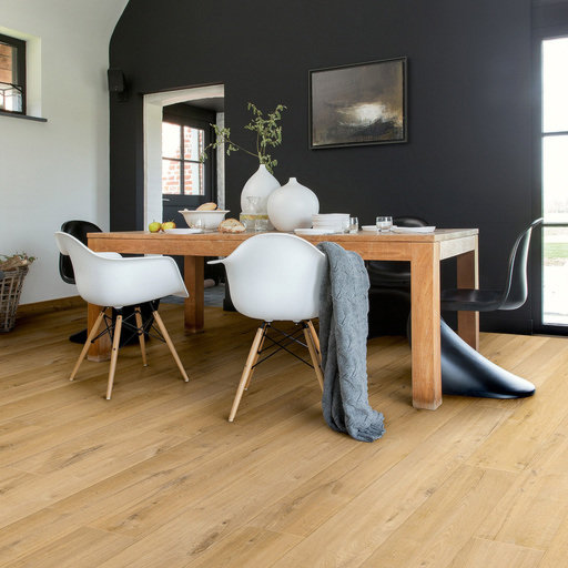 QuickStep Impressive Ultra Soft Oak Natural Laminate Flooring, 12 mm