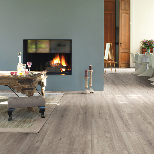 QuickStep Impressive Ultra Saw Cut Oak Grey Laminate Flooring, 12 mm