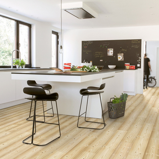 QuickStep Impressive Ultra Natural Pine Laminate Flooring, 12 mm