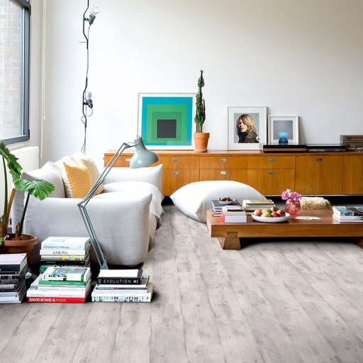 QuickStep Impressive Ultra Concrete Wood Light Grey Laminate Flooring, 12 mm