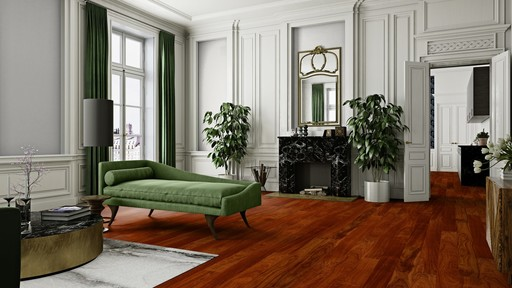 Boen Prestige Jatoba Parquet Flooring, Natural, UV Lacquered, 10x70x590 mm